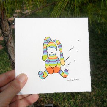 retro bunny illustration