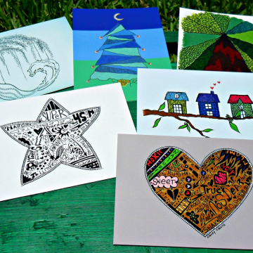 Art postcards fun note cards