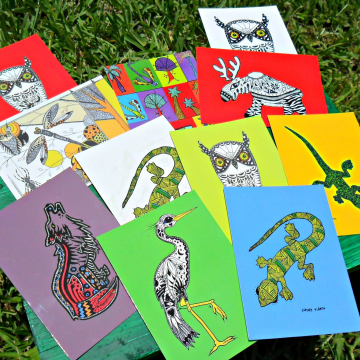 Postcards Animal Art
