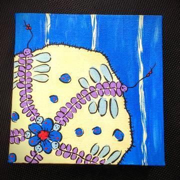 Sea Anemone on canvas