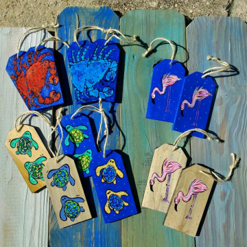 wooden beachy tags