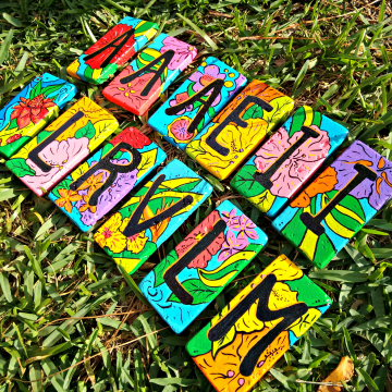 Tropical Alphabet Decorative Tiles