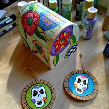 Sugar Skull Ornaments Cork