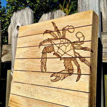 Maryland Blue Crab Mini Pallet wood burn