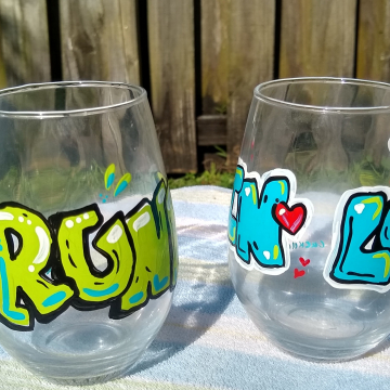 Drunk In Love Wine Glass Set