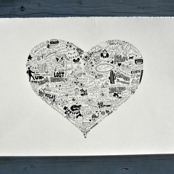 Wedding Memory Illustrations 11 x 14