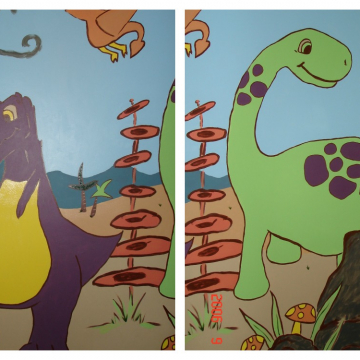 Dino Mural for child's room