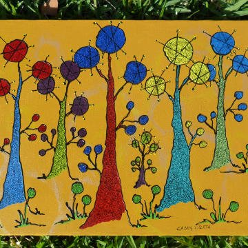 Bubble Trees on canvas