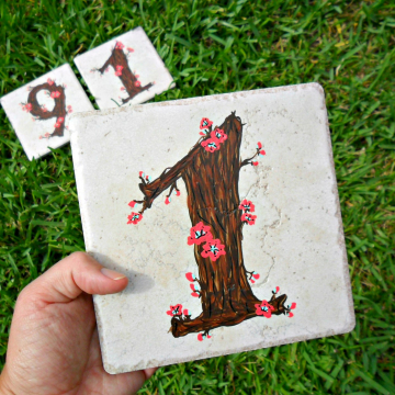 Hand painted address House Numbers- TWIGS