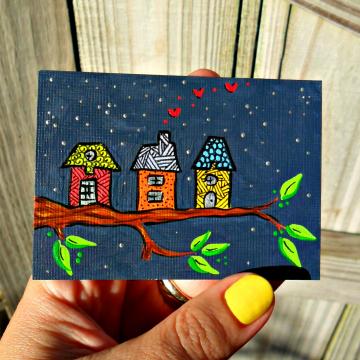 Tiny Tree House painting