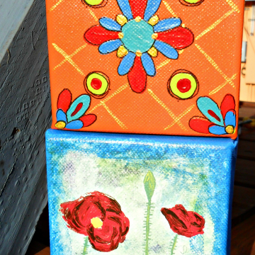 poppies and talavera tile