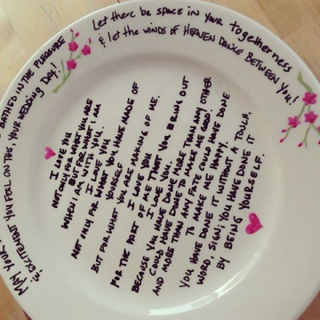 Wedding Vow Plate